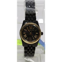NEW MICHAEL KORS WOMEN LEXINGTON BLACK WATCH