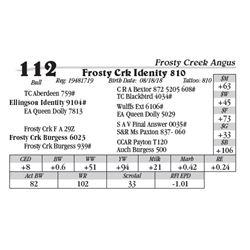 Lot  112 - Frosty Crk Idenity 810