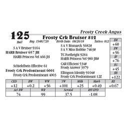 Lot  125 - Frosty Crk Bruiser 812