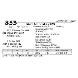 Lot  853 - McD-2-1 Eriskay 853