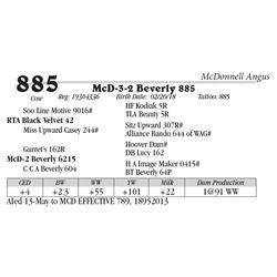 Lot  885 - McD-3-2 Beverly 885