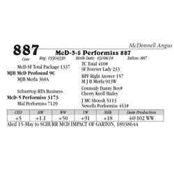 Lot  887 - McD-3-5 Performiss 887