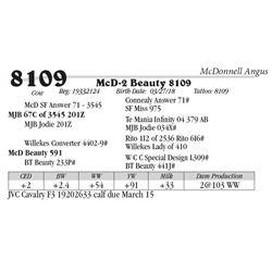 Lot  8109 - McD-2 Beauty 8109