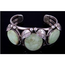 Navajo Carico Lake Turquoise Silver Bracelet 1940-