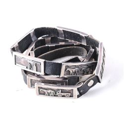Navajo R.H. Begay Sterling Silver Storyteller Belt
