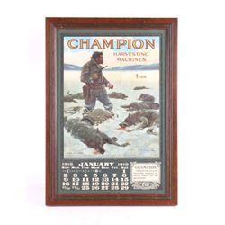 Champion Harvesting N.C Wyeth Advertising Calendar