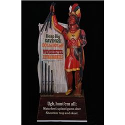 Winchester Cigar Store Indian Advertising Sign