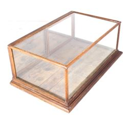 Antique General Store Glass & Oak Case
