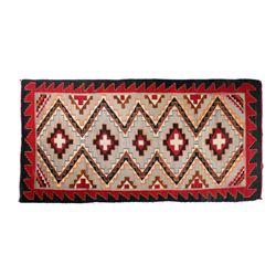 Navajo Ganado Wool Rug from Hubbell c. 1900-1920