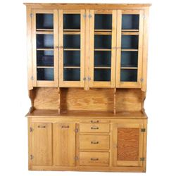 Antique Mercantile Haberdashery Kitchen Hutch
