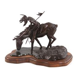 River Mystery Bronze Sculpture By James Roybal