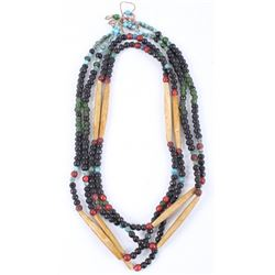 Sioux Trade Bead & Hair Pipe Necklace 19th C.
