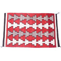 Navajo Old Crystal Eye Dazzler Trade Wool Rug 1900