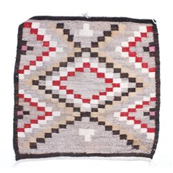 Navajo Old Crystal Eye Dazzler Wool Rug 1900