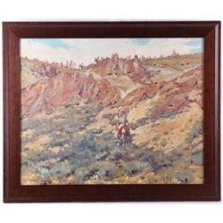 Sheryl Bodily (Montana 1936) Original Oil Painting
