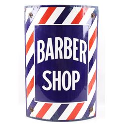 Porcelain Enamel Barber Shop Advertising Sign