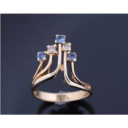 Montana Yogo & Diamond 14K Gold Ring