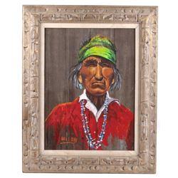 Signed Original Carl G. Bray Barn Wood Portrait