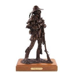 Gary Schildt Bronze Sculpture Prairie Cavalier