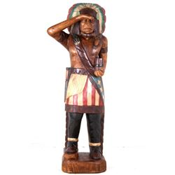 Large American Carved Cigar Store Indian
