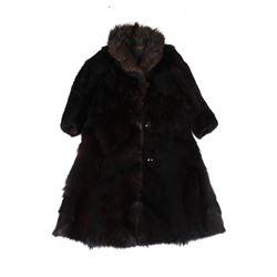 Stage Coach Black Bear Fur Coat