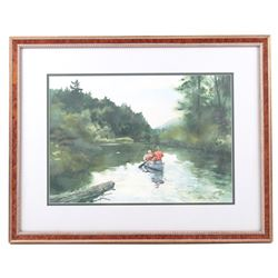 Fishing the Inlet Framed Arthur Shilstone Print