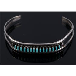 Navajo Sterling & Turquoise Petite Old Pawn Cuff