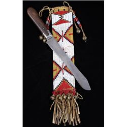 Blackfeet Beaded Sheath & 19th C. Trade Knife