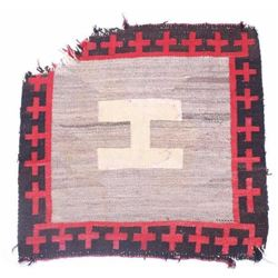"Navajo Crystal ""H or ""I"" Cross Rug c. 1900"
