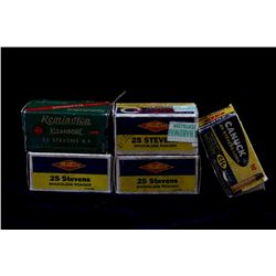 .25 Stevens Assorted Box Ammunition Collection