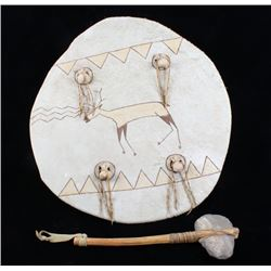 Hopi Polychrome & Incised War Shield