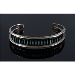 Navajo Old Pawn Micro Petite Point Turquoise Cuff