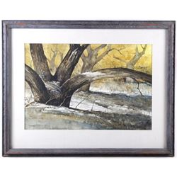 "Morris Rippel Water Color ""Arch Tree"""