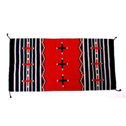 Navajo Ganado Hubbell Cross Banded Rug c1900s