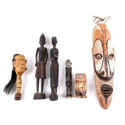 Collection African Tribal Figures, Rattle, & Mask