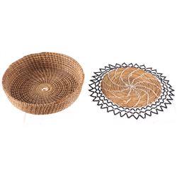 Seminole Pine Needle Woven Baskets 1950's