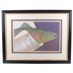 Jeffrey D Lawson Fish Market Serigraph Painting