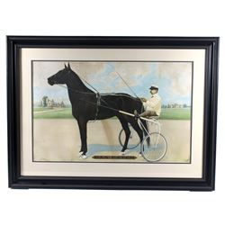 1902 Dan Patch The Courier Co Lithograph