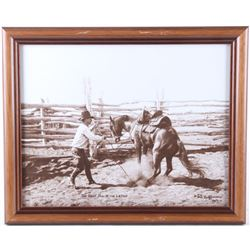 The First Pull at the Latigo by L.A. Huffman Print