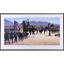 "1995 Larry Zabel ""Montana Black Gold"" Lithograph"