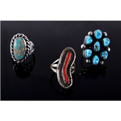Navajo Old Pawn Sterling Silver Ring Collection