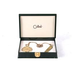 Colibri Swiss Hunting Pocket Watch Chain & Knife