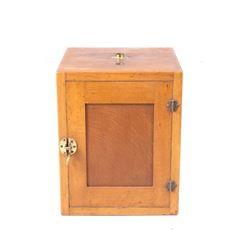 Mid 1900s Counter Top Oak Sterilizer Cabinet