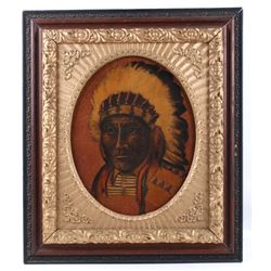 Original Native American Chief Portrait Painting