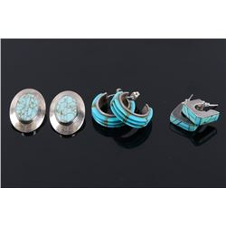 Navajo Sterling & Turquoise Earring Collection