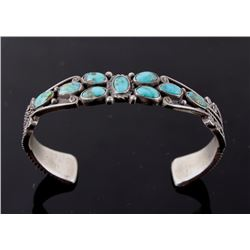 Navajo Sterling & Turquoise Mountain Bracelet