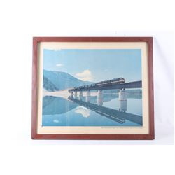 Northern Pacific Railway Montana Bridge Print