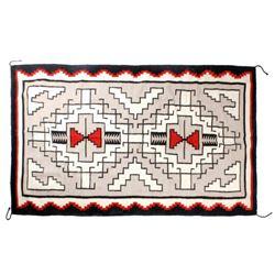 Navajo Ganado Style Pattern Wool Trading Post Rug