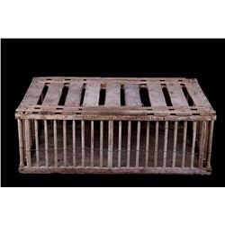 Mid 1900's Carpentry Wooden Chicken Crate