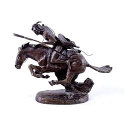 "Frederic Remington Bronze, ""Cheyenne"""